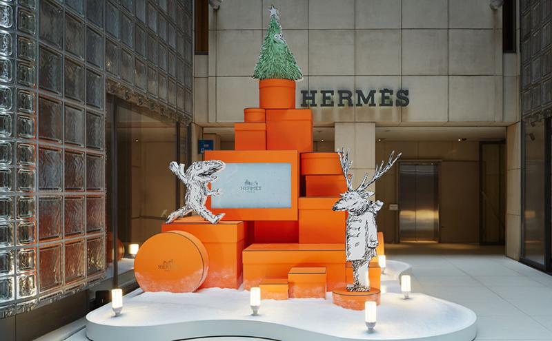 「エルメスのオレンジボックスツリー」