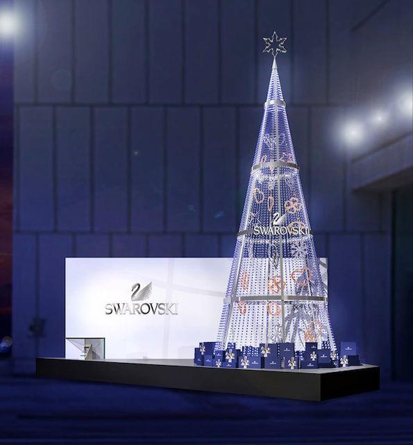 「スワロフスキー」のスペシャルクリスマスツリー